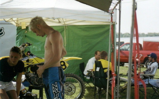 Henry in the Lantzer Pits at High Point